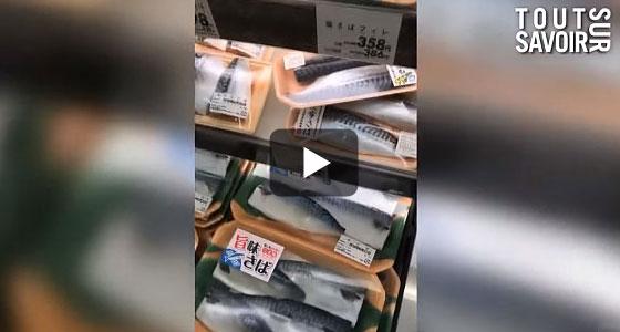 Au supermarché, le rayon du poisson est impressionnant… Voyez plutôt !