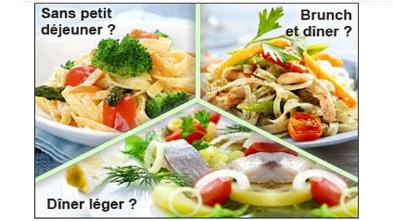 La méthode Cohen propose différentes formules de plans de repas