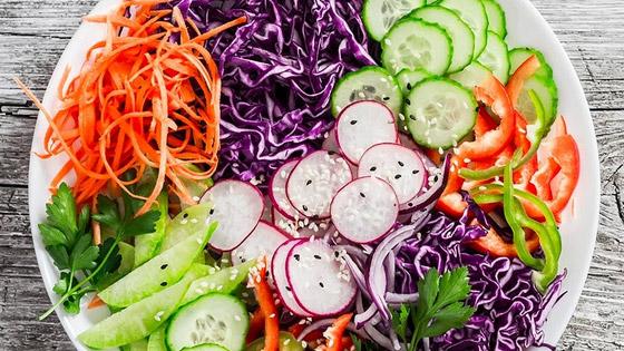 200 à 300 g de légumes + 2 à 3 portions de fruits par jour